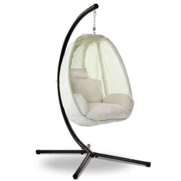 Mid Century Rattan Chair, Gardeon Outdoor Furniture Egg Hammock Porch Hanging Pod Swing Chair With Stand Online In Australia Fulpy